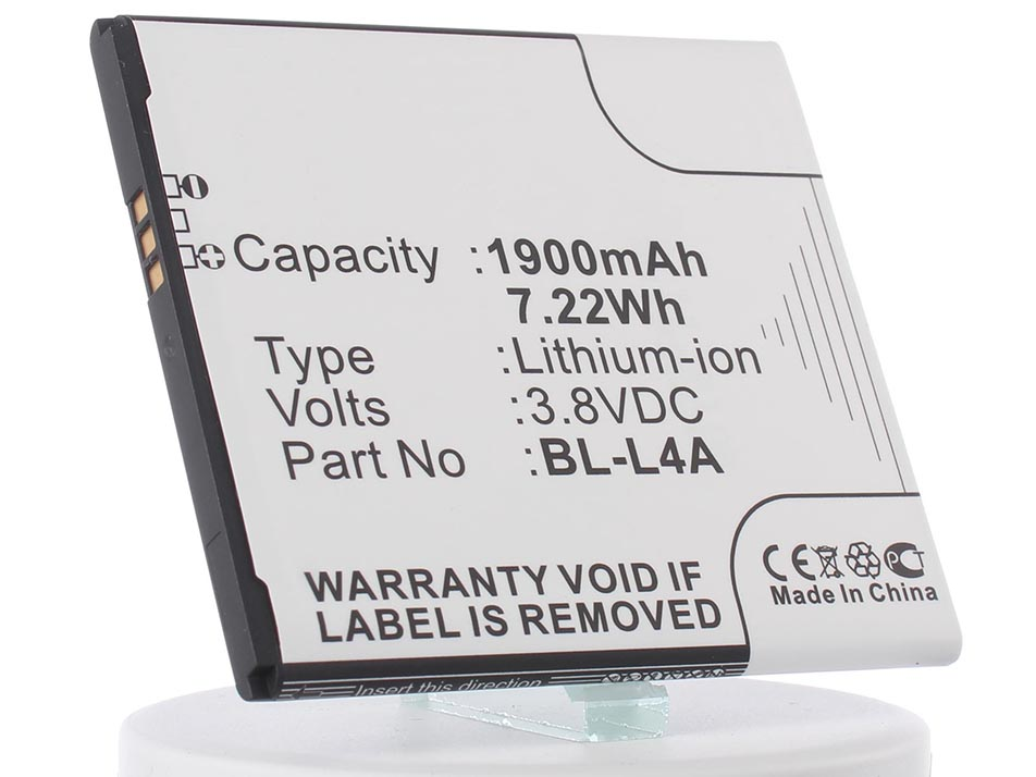 Аккумулятор для телефона iBatt BL-L4A для Microsoft Lumia 535, RM-1090, Lumia 535 Dual Sim, Lumia 535 Dual SIM