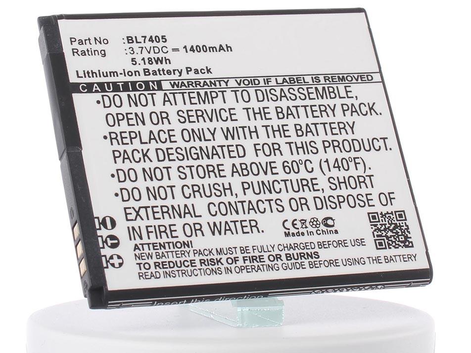 Аккумулятор для телефона iBatt BL7405 для Fly IQ449, IQ449 Pronto аккумулятор для телефона ibatt bl3819 для fly iq4514 iq4514 quad evo tech 4