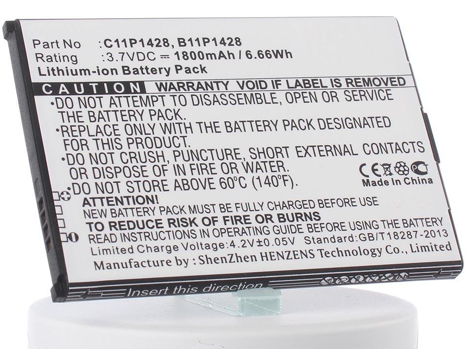 Аккумулятор для телефона iBatt C11P1428, B11P1428, 0B200-01480200 для Asus ZE500KL, ZenFone 2 Laser ZE500KL, ZB551KL, ZE500KG, ZenFone 2 Laser ZE500KG чехол с флипом для asus zenfone 2 laser ze500kl ze500kg df aflip 04