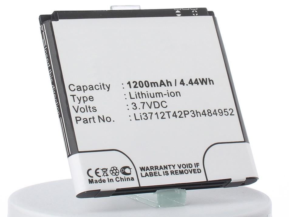 Аккумулятор для телефона iBatt Li3712T42P3h484952 для ZTE KIS Q, A3, A3s, Kis Flex, U880 S2 аккумулятор для телефона ibatt ib li3712t42p3h484952 m1261