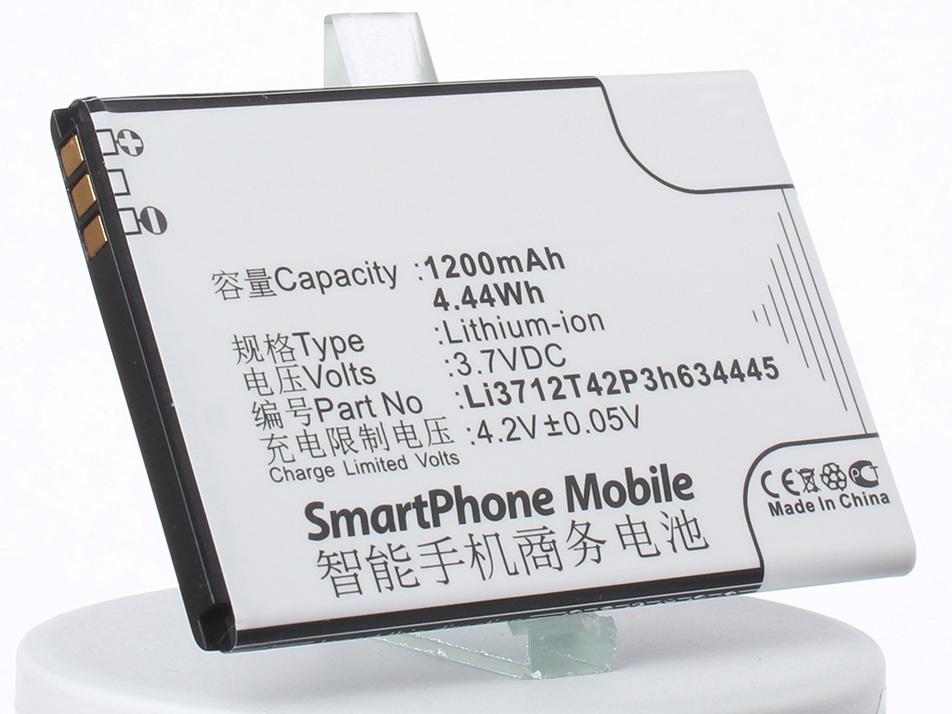 Аккумулятор для телефона iBatt Li3712T42P3h634445 для ZTE V815W, Blade C320 аккумулятор для телефона ibatt li3822t43p8h725640 для zte blade a510 ba510