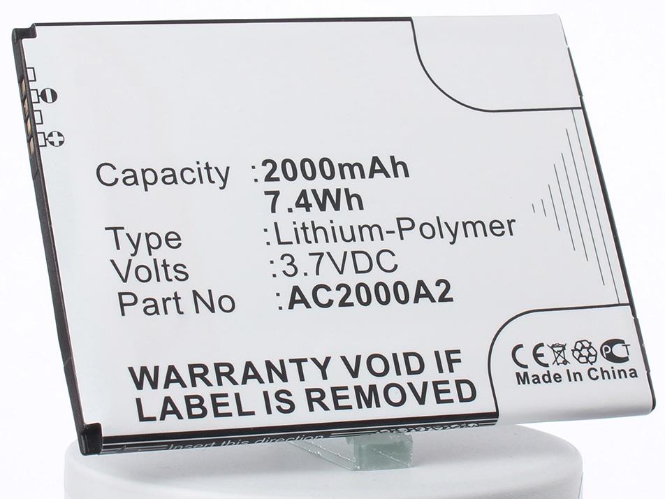 Аккумулятор для телефона iBatt AC2000A2, AC2000A1 для Archos 50c Oxygen аккумулятор для телефона ibatt ac2000a2 ac2000a1 для archos 50c oxygen