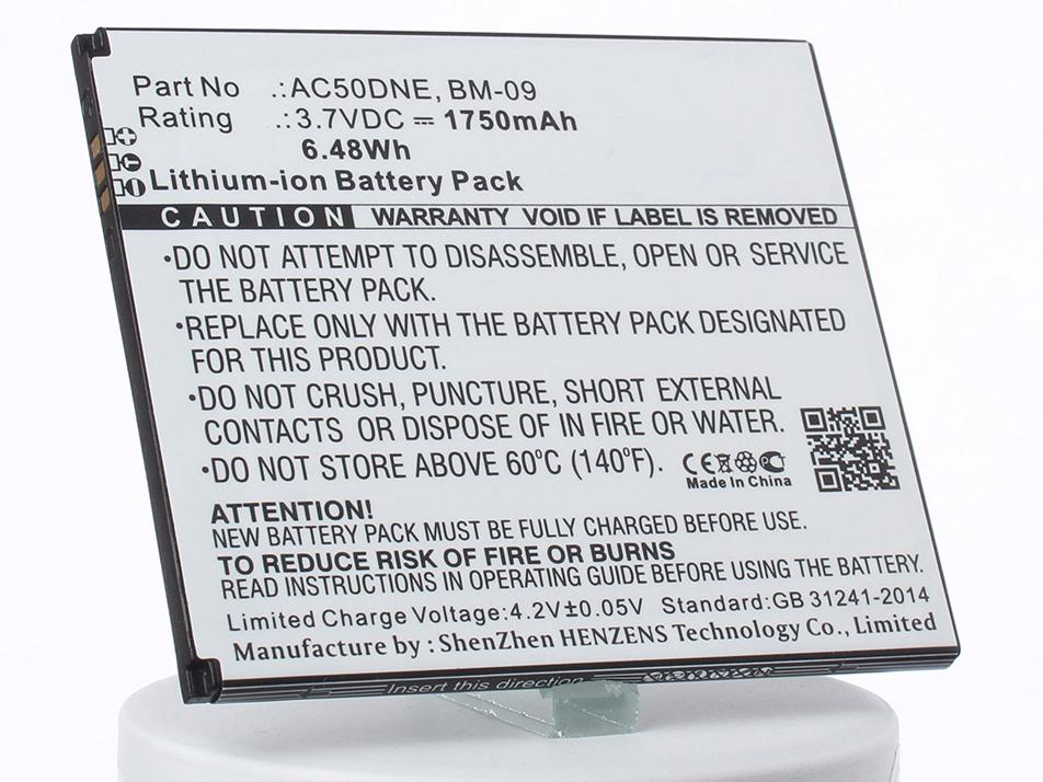 Аккумулятор для телефона iBatt AC50DNE для Archos 50D Neon, A50D Neon аккумулятор для телефона ibatt ib ac50dne m1291