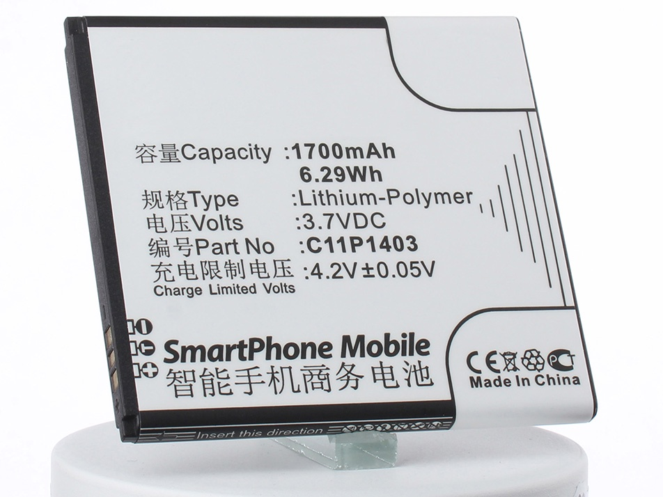 Аккумулятор для телефона iBatt C11P1403 для Asus A450CG, ZenFone 4.5 аккумулятор для телефона ibatt c11p1508 для asus z010d z010da z010ad