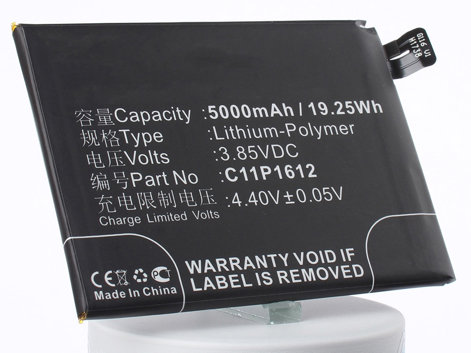 Аккумулятор для телефона iBatt C11P1612 для Asus ZenFone 3 Zoom, ZE553KL, ZenFone 3 Zoom Dual SIM LTE asus zenfone 2 laser ze601kl 32gb dual sim lte silver