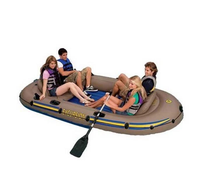 Надувная лодка Intex EXCURSION 68324, коричневый
