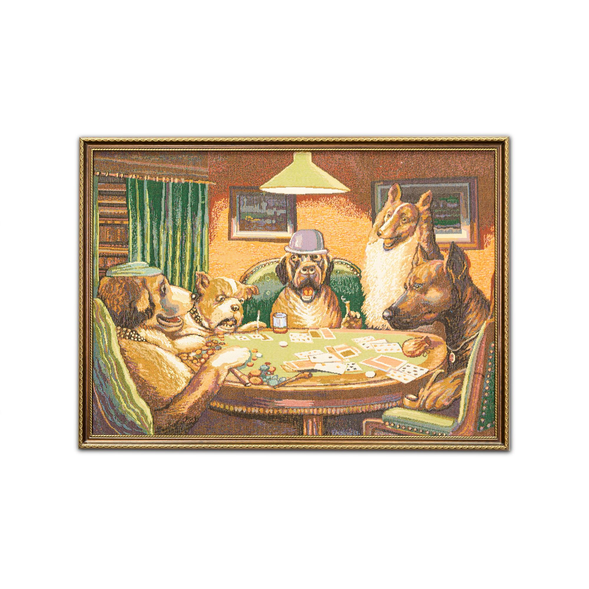 Картина Магазин гобеленов покер 58*80см, Гобелен printio чехол для iphone x xs объёмная печать r design blue