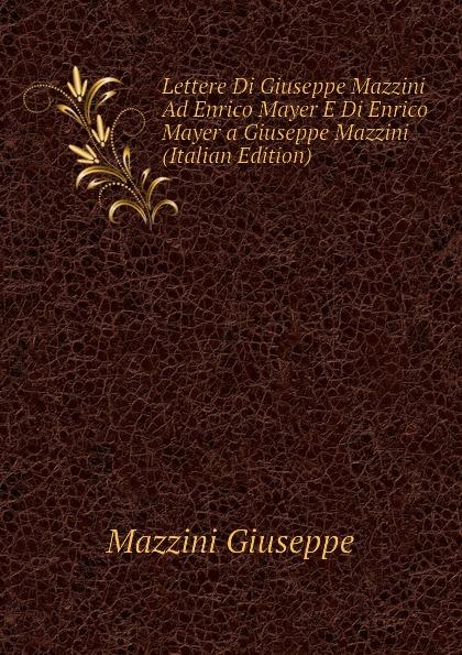 Mazzini Giuseppe Lettere Di Giuseppe Mazzini Ad Enrico Mayer E Di Enrico Mayer a Giuseppe Mazzini (Italian Edition) enrico giuseppe dapei donne
