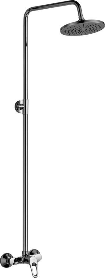 Смеситель Rossinka B35-44, для душа, с регулируемой штангой и лейкой Тропический дождь, хром