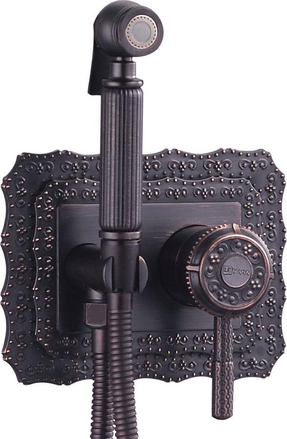 Фото - Смеситель Lemark Jasmine, с гигиеническим душем, встраиваемый, LM6619ORB, черный, бронза смеситель с гигиеническим душем dk da1344501 латунная лейка