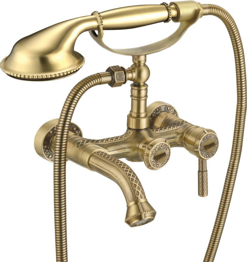 Смеситель Lemark Jasmine, для ванны, LM6612B, бронза смеситель lemark jasmine для ванны и душа lm6662b бронза