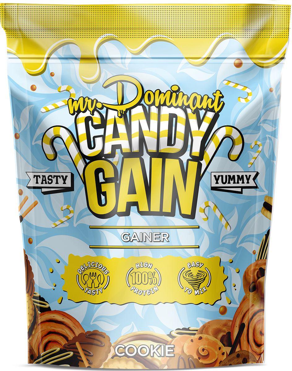 Напиток сухой Mr. Dominant Candy Gain, концентрат, печенье, 1000 г q10 liquid напиток концентрат 11мл 25 флаконы