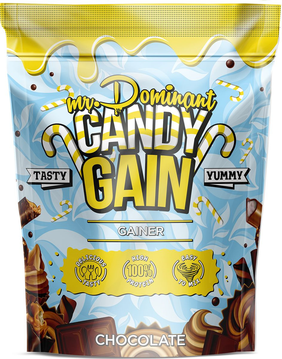 Напиток сухой Mr. Dominant Candy Gain, концентрат, шоколад, 1000 г q10 liquid напиток концентрат 11мл 25 флаконы
