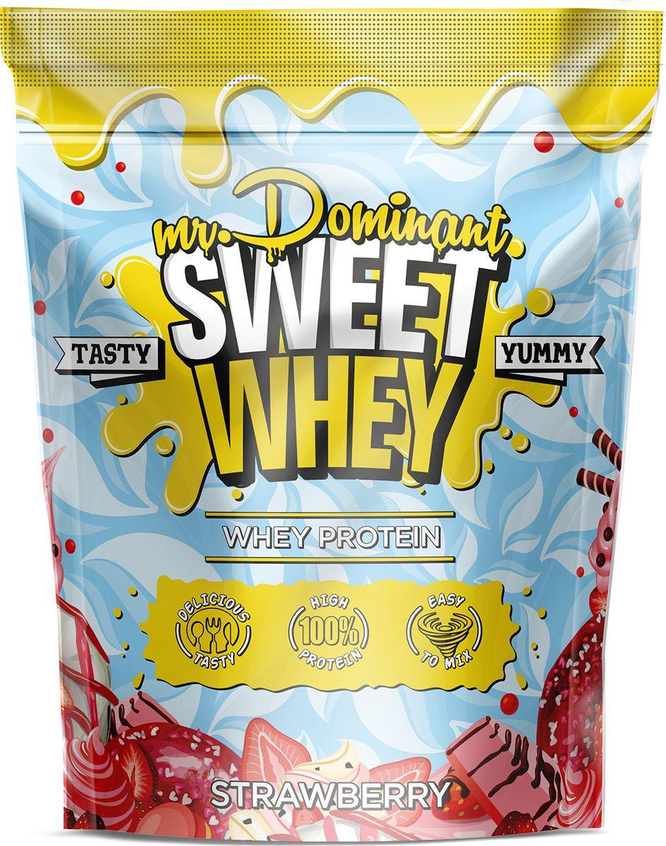 Напиток сухой Mr. Dominant Sweet Whey, концентрат, клубника, 900 г q10 liquid напиток концентрат 11мл 25 флаконы