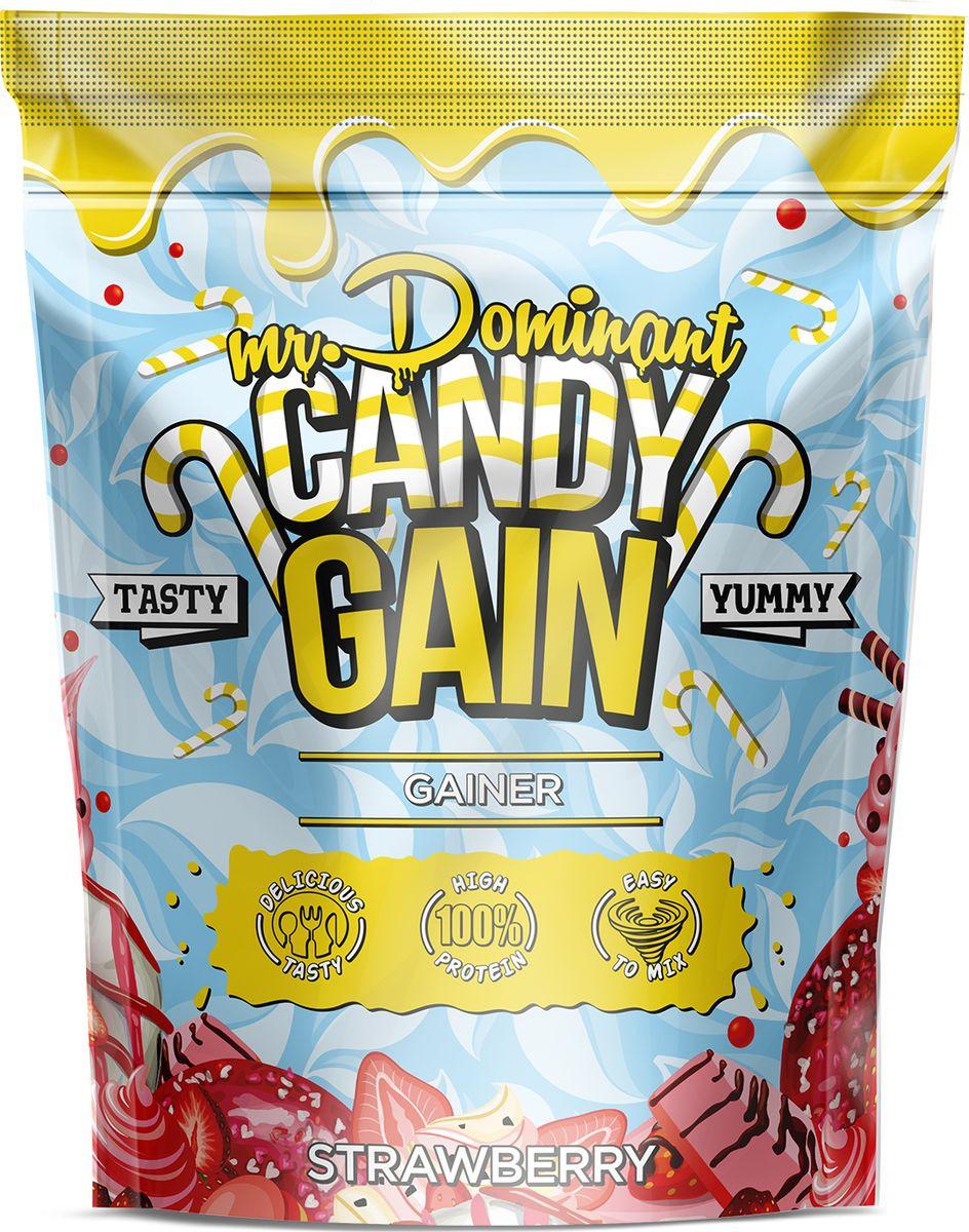 Напиток сухой Mr. Dominant Candy Gain, концентрат, клубника, 1000 г q10 liquid напиток концентрат 11мл 25 флаконы