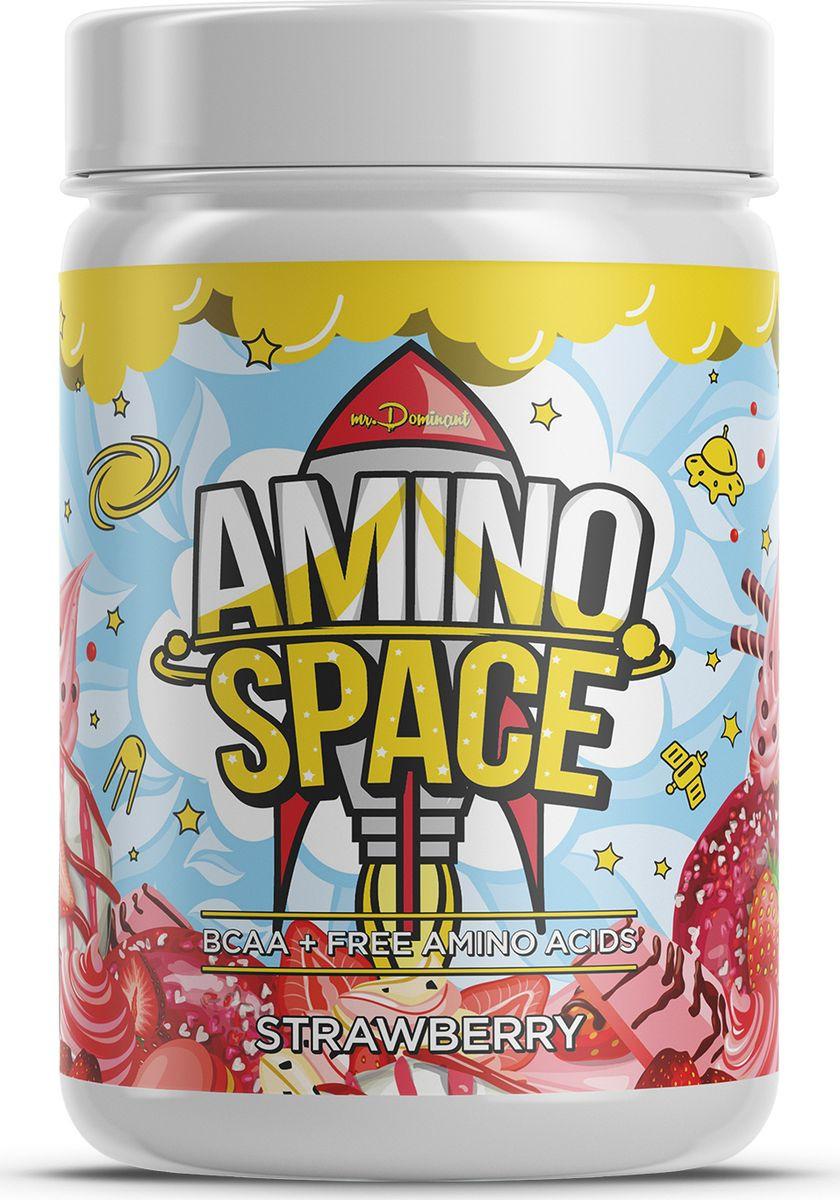 Напиток сухой Mr. Dominant Amino Space, концентрат, клубника, 300 г night amino
