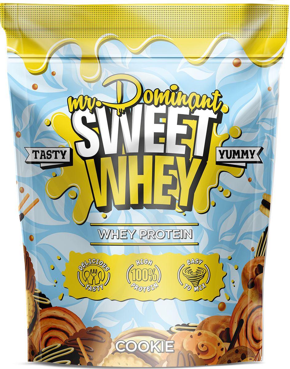Напиток сухой Mr. Dominant Sweet Whey, концентрат, печенье, 900 г q10 liquid напиток концентрат 11мл 25 флаконы