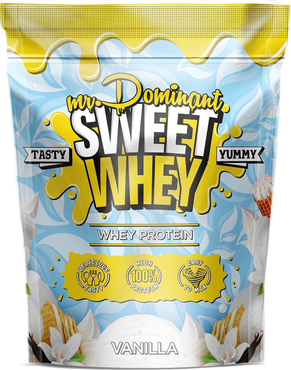 Напиток сухой Mr. Dominant Sweet Whey, концентрат, ваниль, 900 г q10 liquid напиток концентрат 11мл 25 флаконы