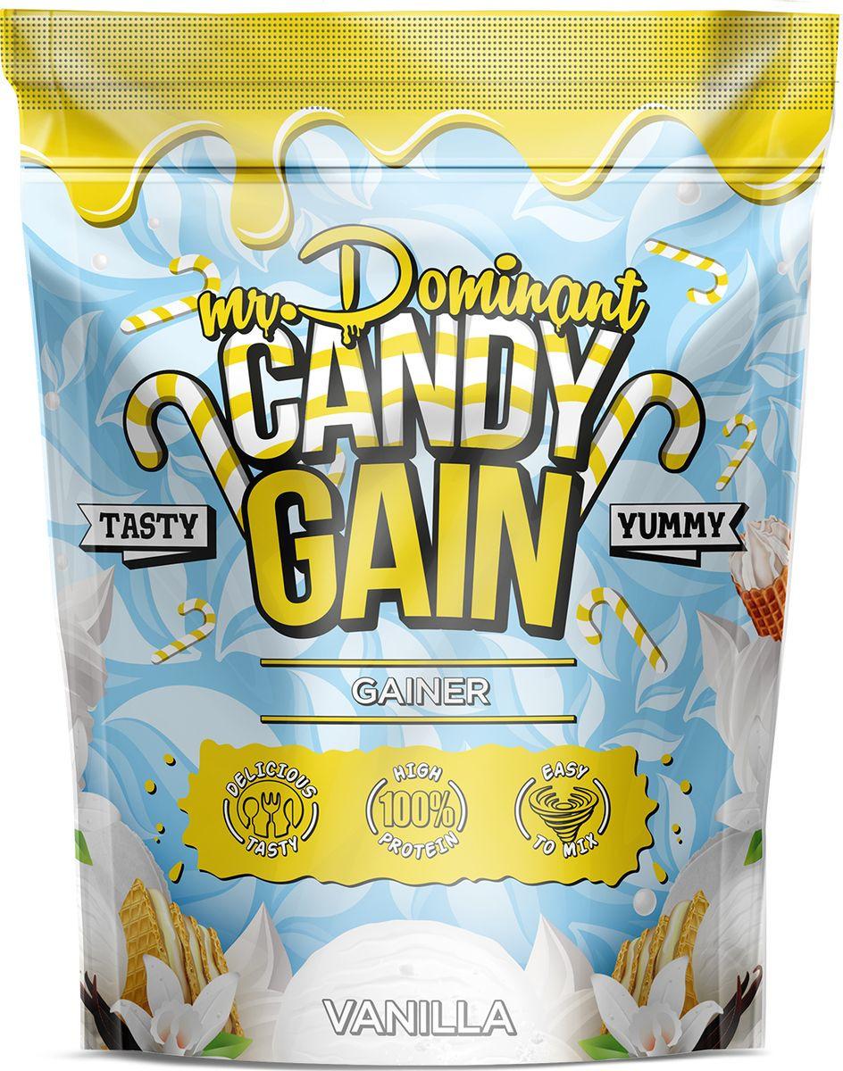 Напиток сухой Mr. Dominant Candy Gain, концентрат, ваниль, 1000 г q10 liquid напиток концентрат 11мл 25 флаконы