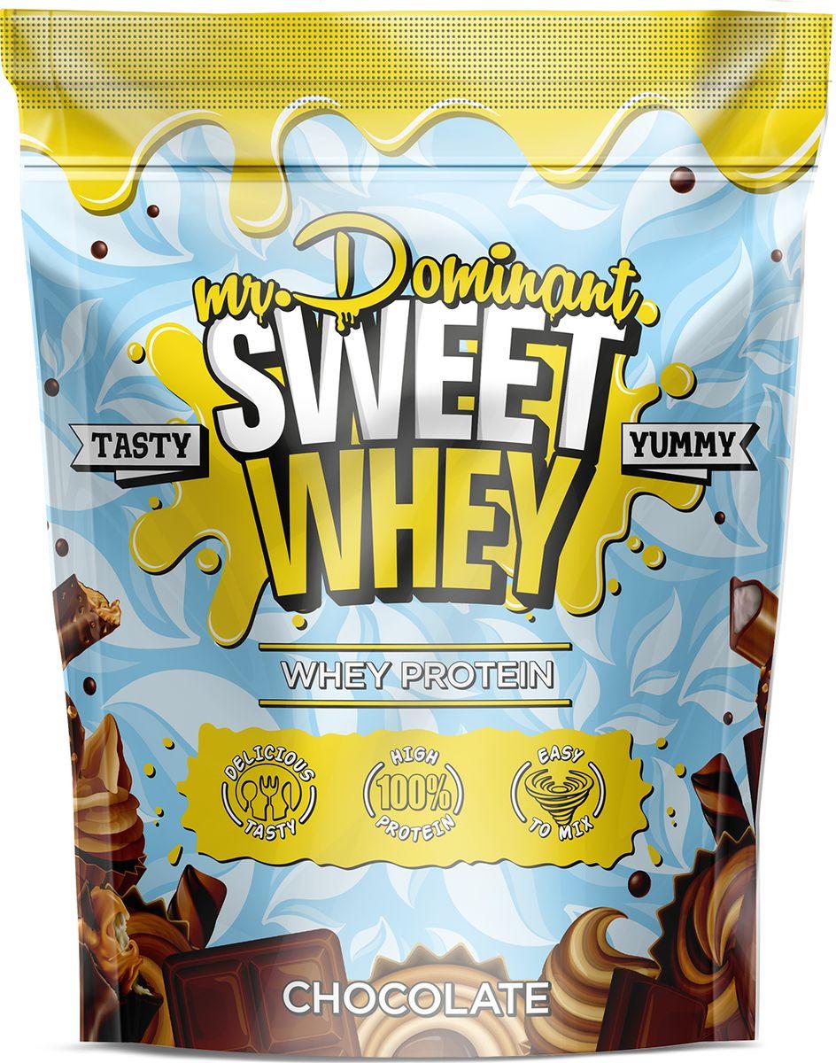 Напиток сухой Mr. Dominant Sweet Whey, концентрат, шоколад, 900 г q10 liquid напиток концентрат 11мл 25 флаконы
