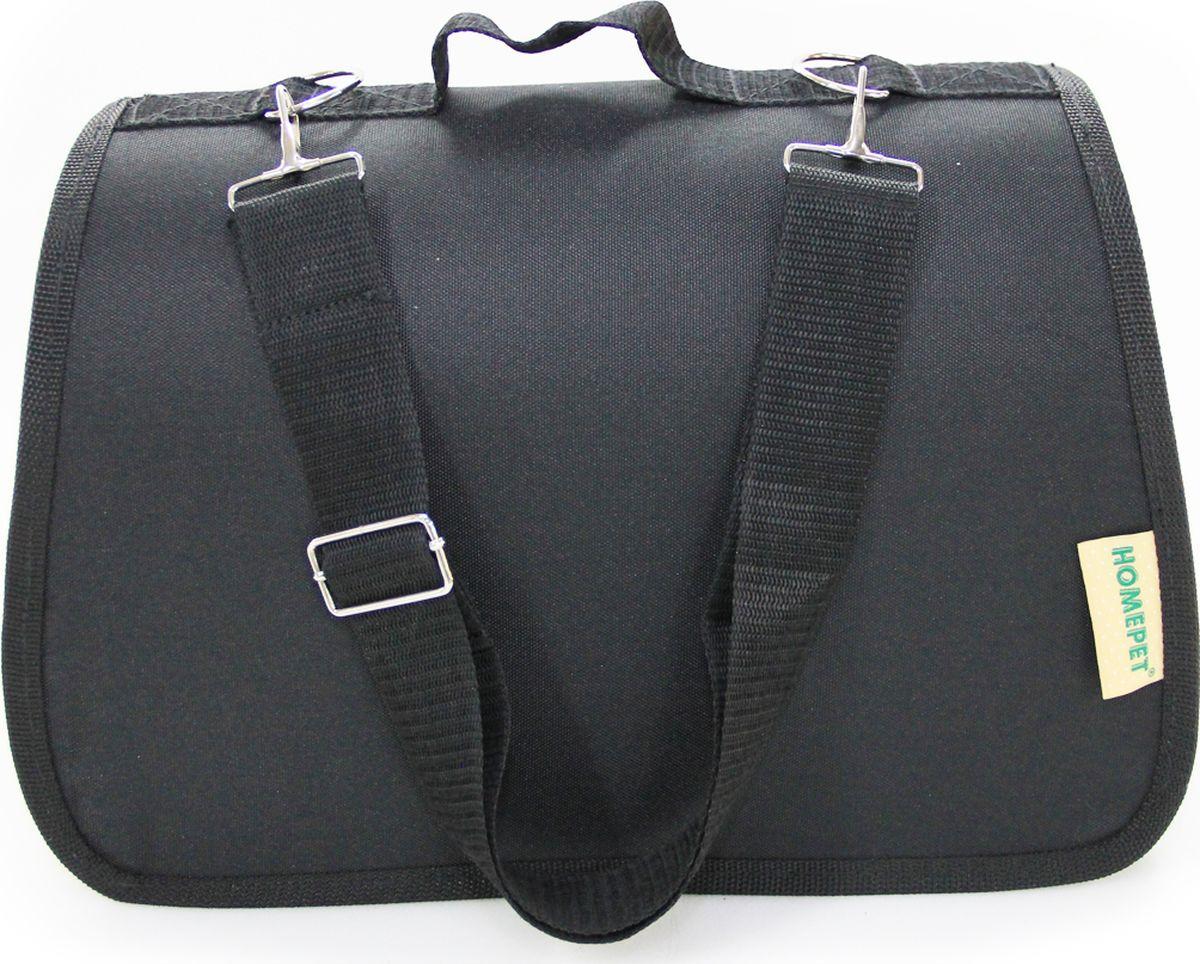 Фото - Сумка-переноска HomePet №1, 71401, черный, 35 х 22 х 23 см переноска для кошек и собак up романо черная 46х30х32 см