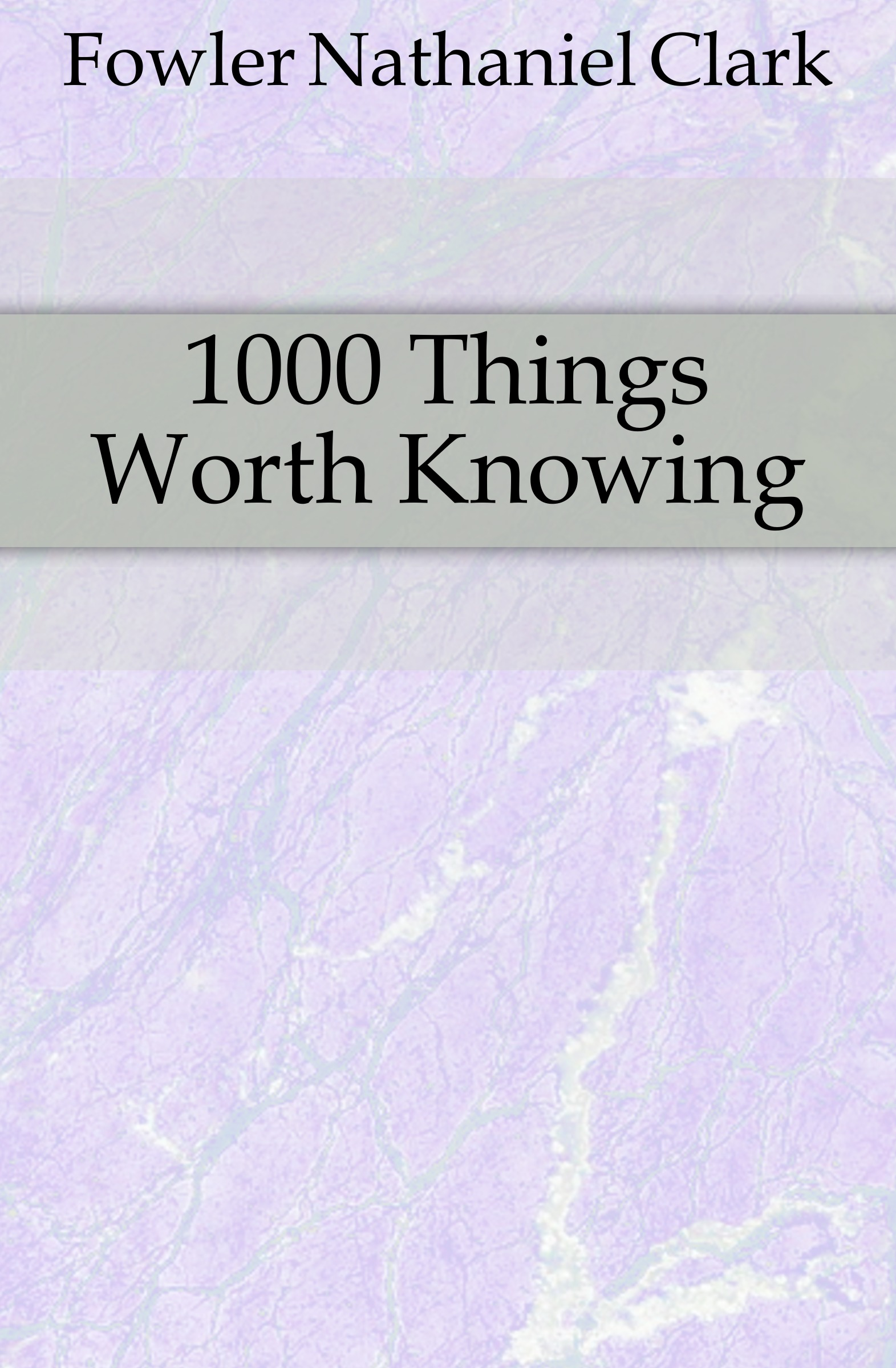 лучшая цена Fowler Nathaniel Clark 1000 Things Worth Knowing