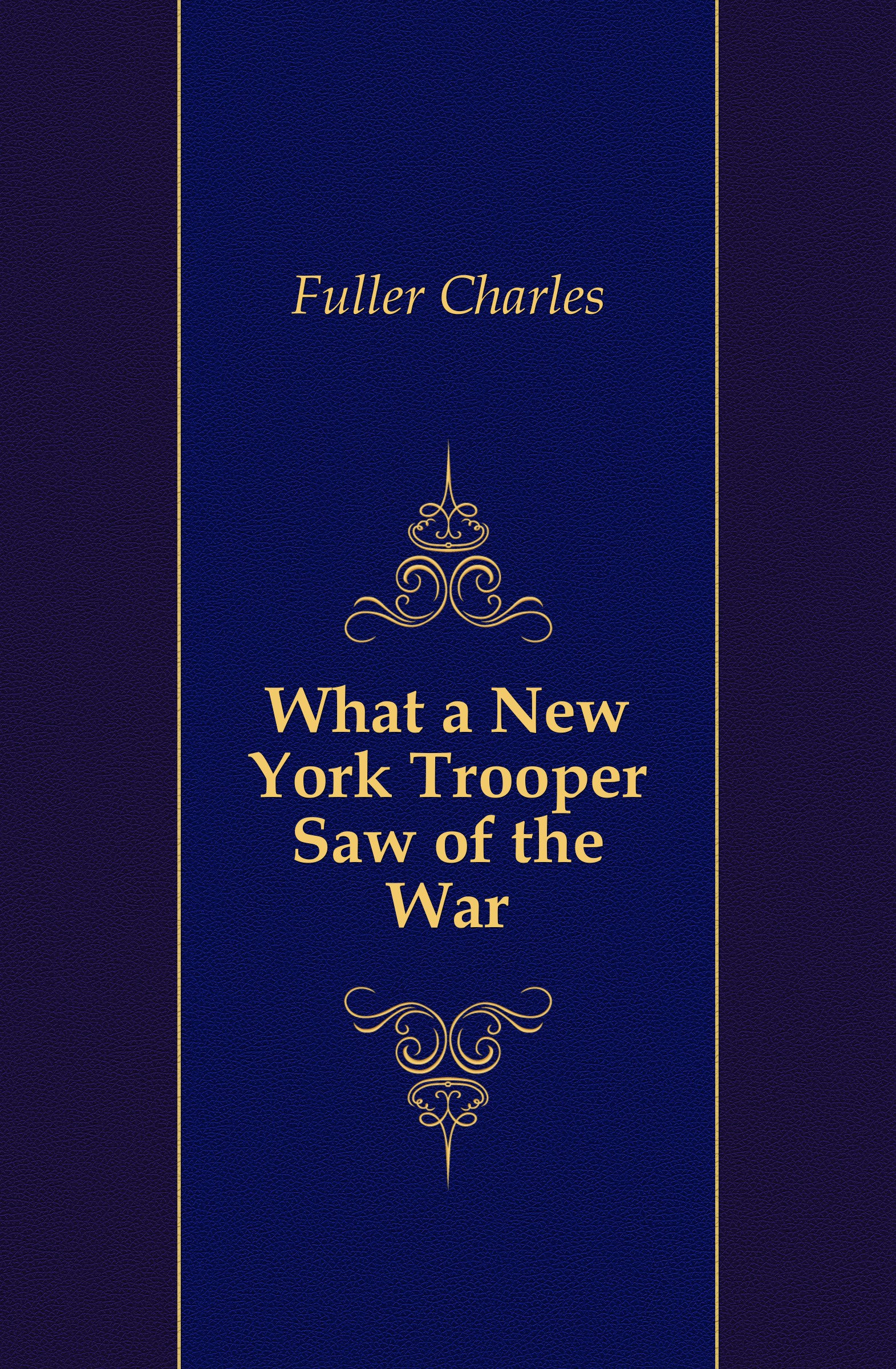Fuller Charles What a New York Trooper Saw of the War eric newby what the traveller saw