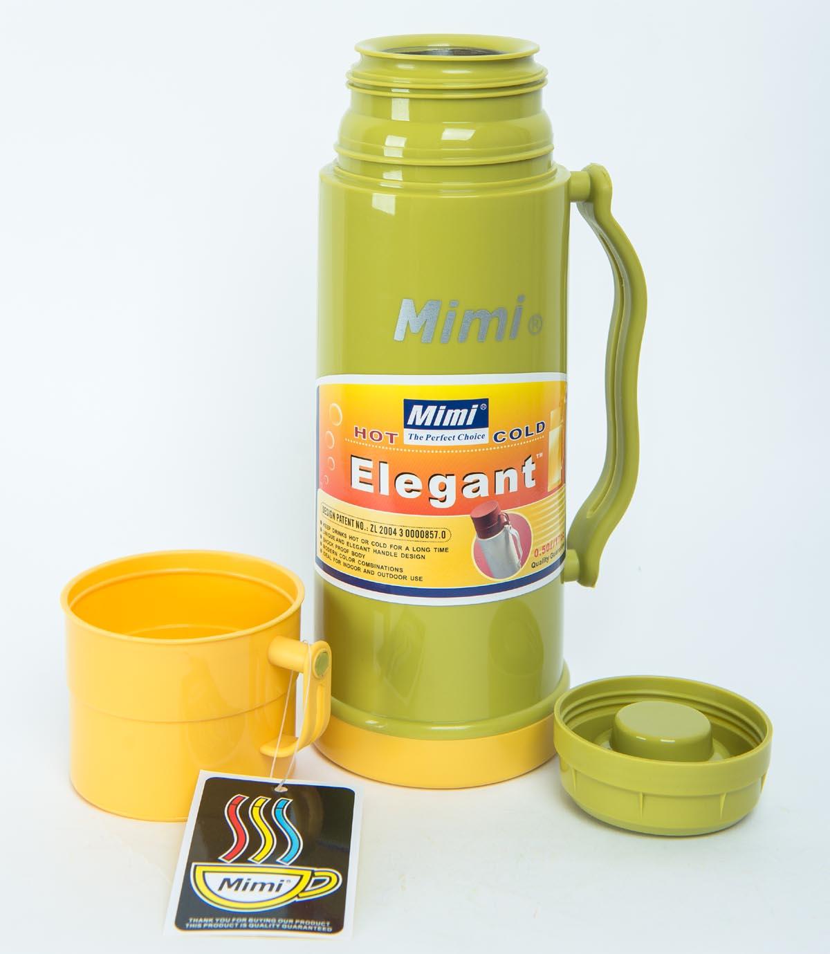 Термос Mimi ЕТ050, оливковый термос mimi elegant 0 5 л