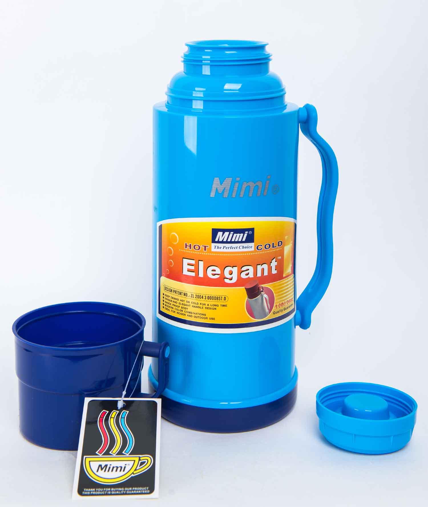 Термос Mimi ЕТ100, синий термос mimi elegant 0 5 л