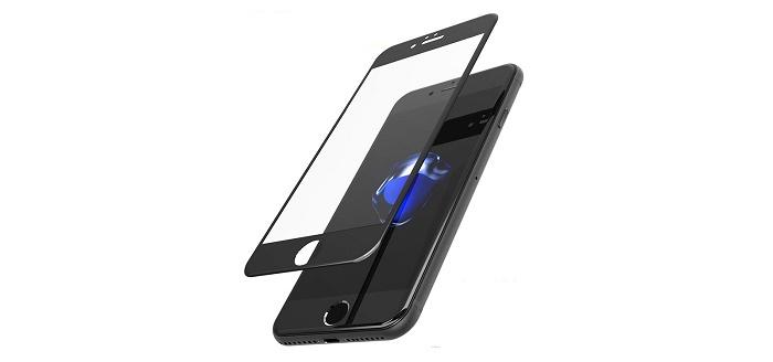 Защитное стекло для Apple iPhone 7 и 8 серии. Черное., черный