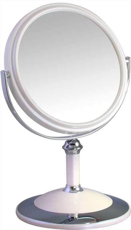 Зеркало косметическое Weisen настольное двустороннее с 5Х увеличением, B68021 PER/C WPearl, белый, серебристый зеркало косметическое jardin d ete со стразами роза сталь стекло d64 мм 947864