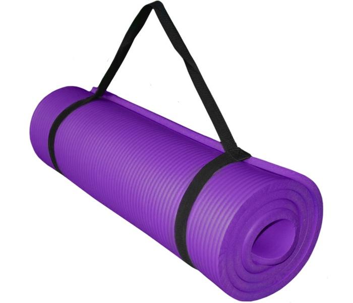 Коврик для йоги и фитнеса Hawk НБК 183х61х1,5 см (фиолетовый) HKEM124-1.5-PURPLE, фиолетовыйHKEM124-1.5-PURPLEКоврики НБК 15мм (Голубой)Размер: 183х61х1,5 см.Материалы: НБК / NBR (Бутадиен-нитрильный каучук)Комплектация: Коврик + лямка для переноски.Данный вид коврика по праву считается универсальным.Одновременно подходит для использования при занятиях фитнесом и в турристических походах.Толстый и мягкий, теплый и комфортный.Это - тот самый удобный и эластичный коврик.