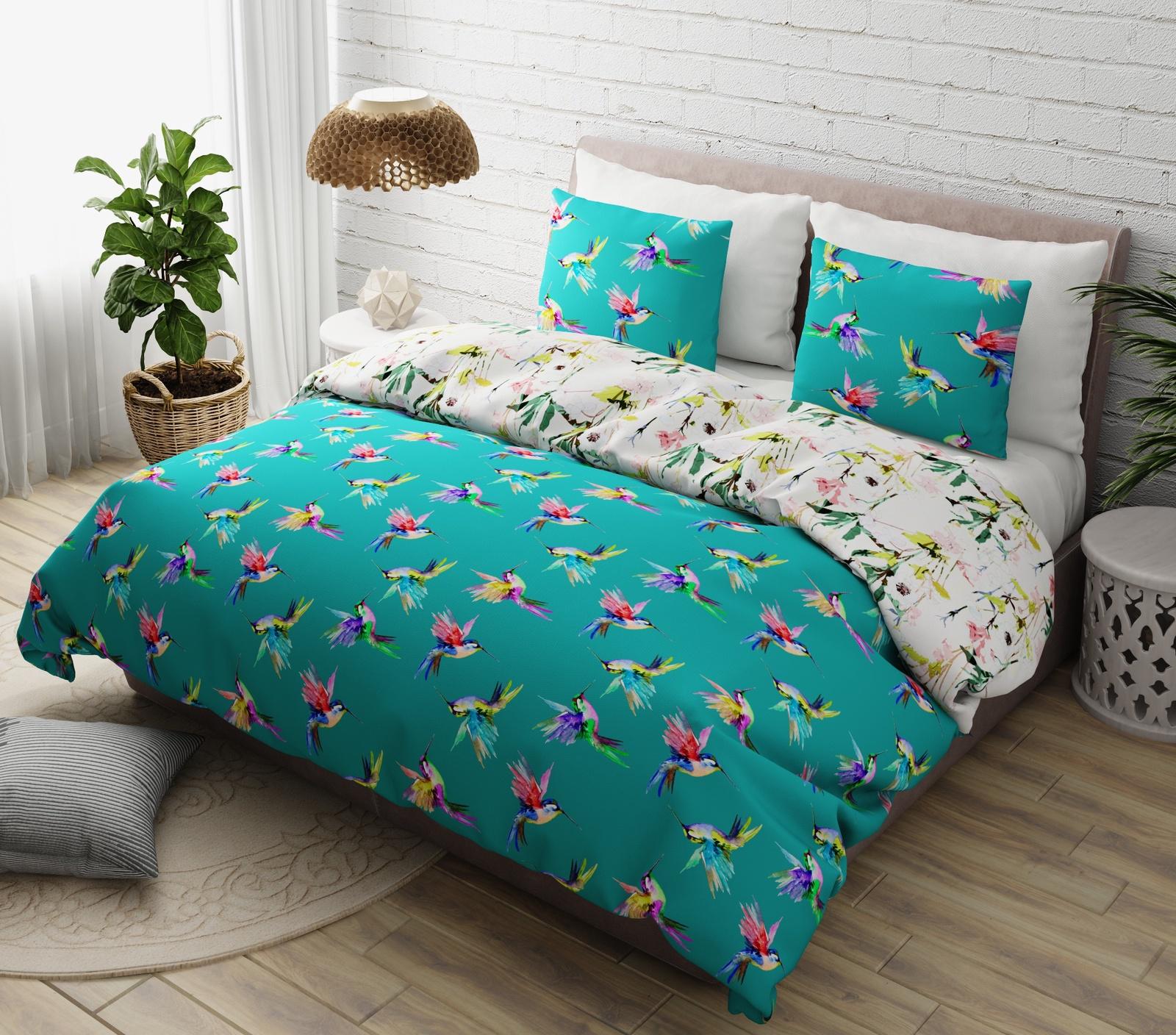 Комплект в кроватку Marengotextile Колибри, зеленый