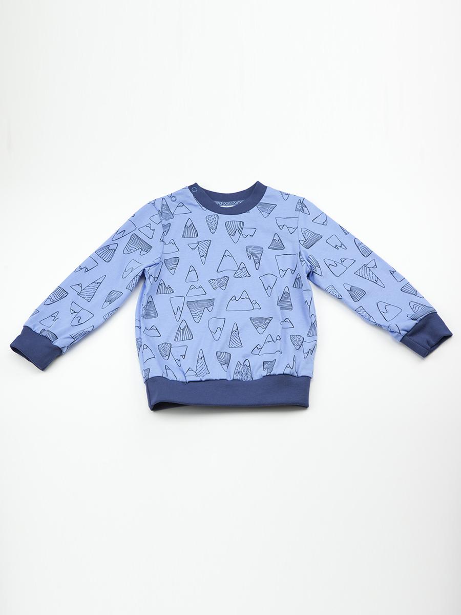 Джемпер Чудо-Чадо кофточка для мальчика котмаркот цвет белый голубой 7618 размер 86