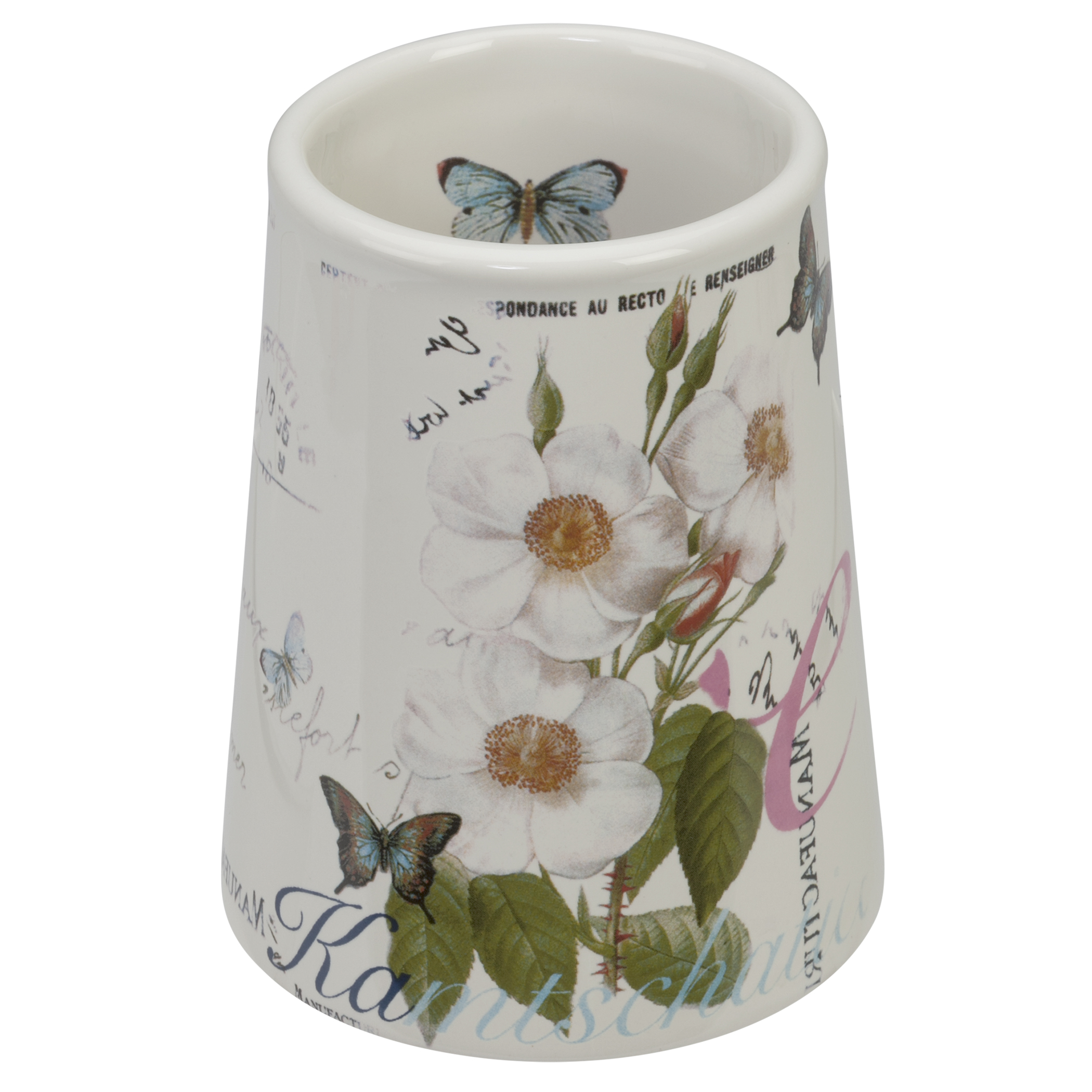 Стакан для ванной комнаты Creative Bath Botanical Dairy, белый мыльница creative bath botanical dairy btl56mult
