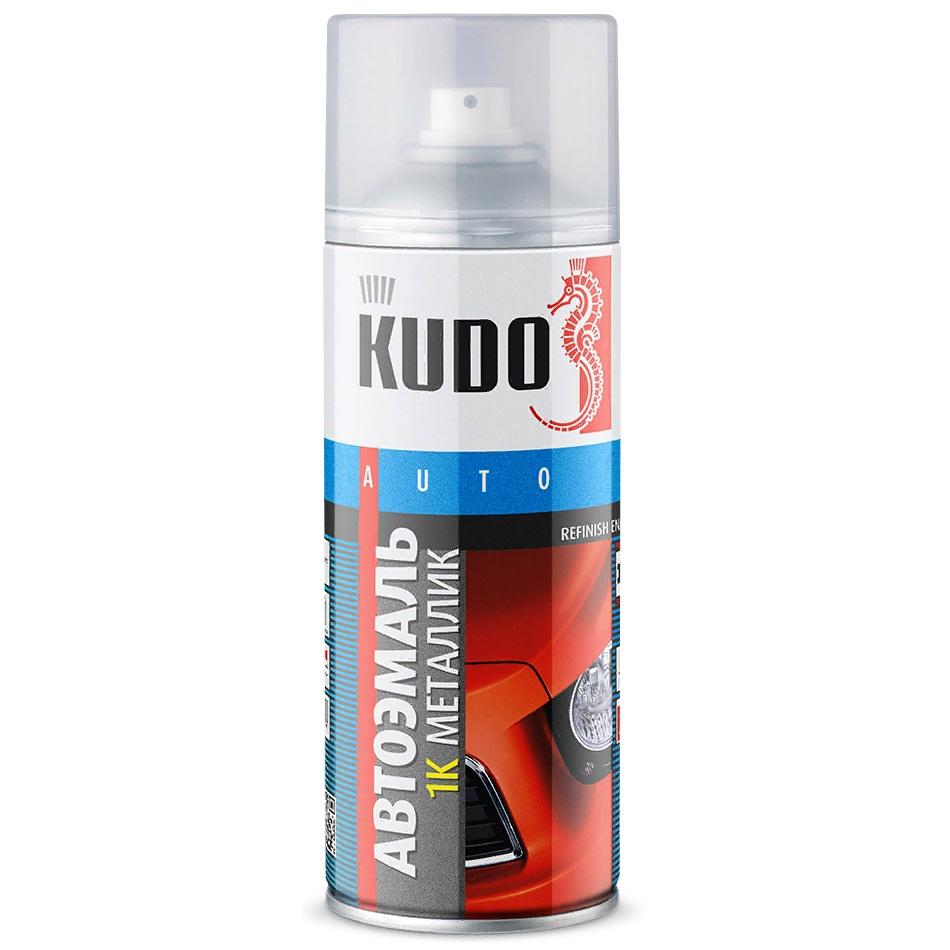Краска автомобильная KUDO 690 Снежная королева, металлик, аэрозоль, 520мл краска для кожи kudo