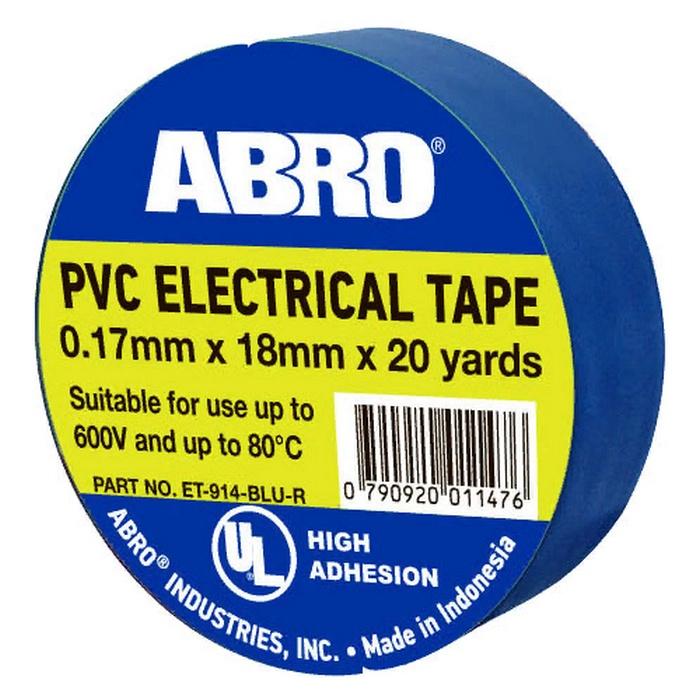 Изоляционная лента ABRO термостойкая, 18 мм, 18,3 м, синий цена и фото
