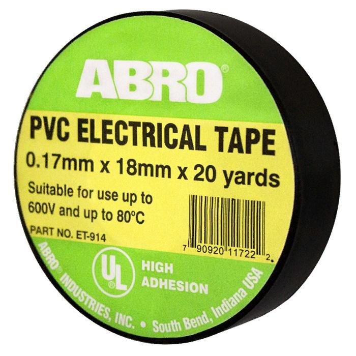 Изоляционная лента ABRO термостойкая, 18 мм, 18,3 м, черный цена и фото
