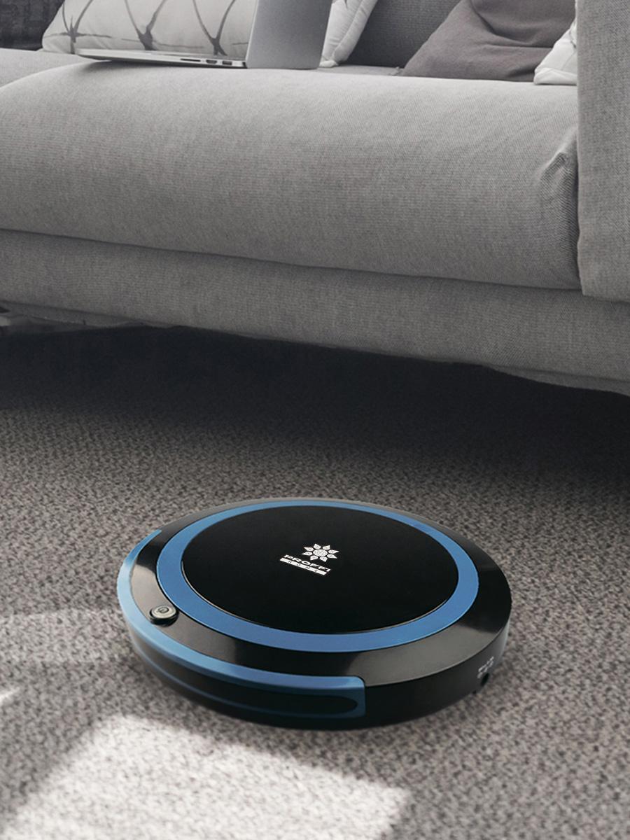 Робот-пылесос PROFFI c влажной уборкой, с автоматическим выбором траектории, черный Proffi