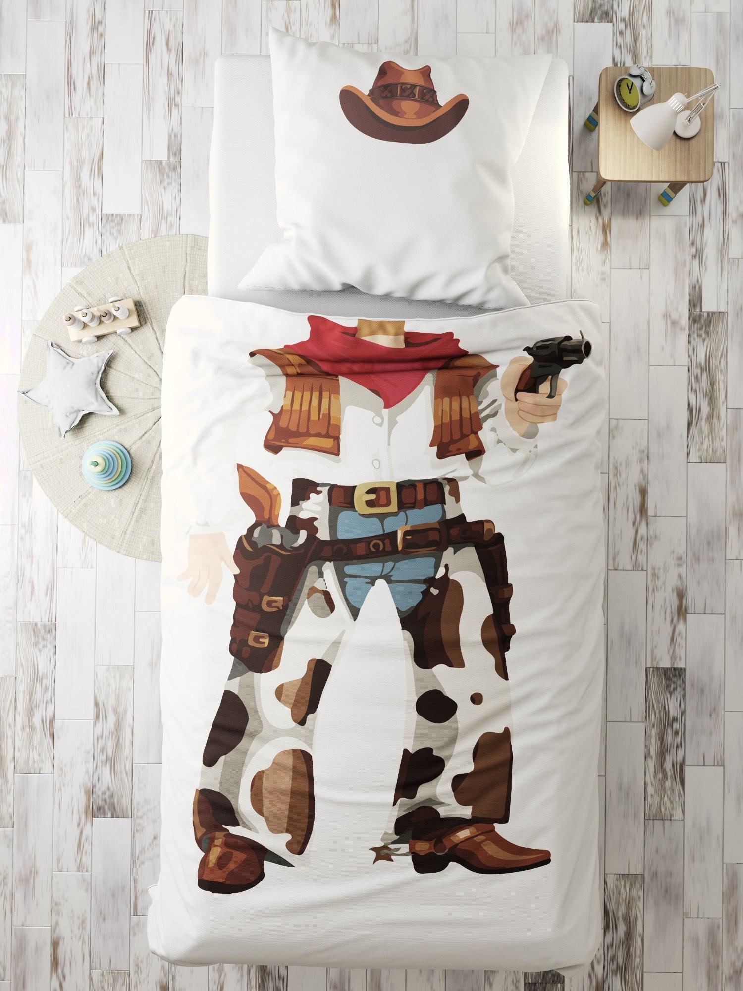 Комплект в кроватку Ковбой, белый