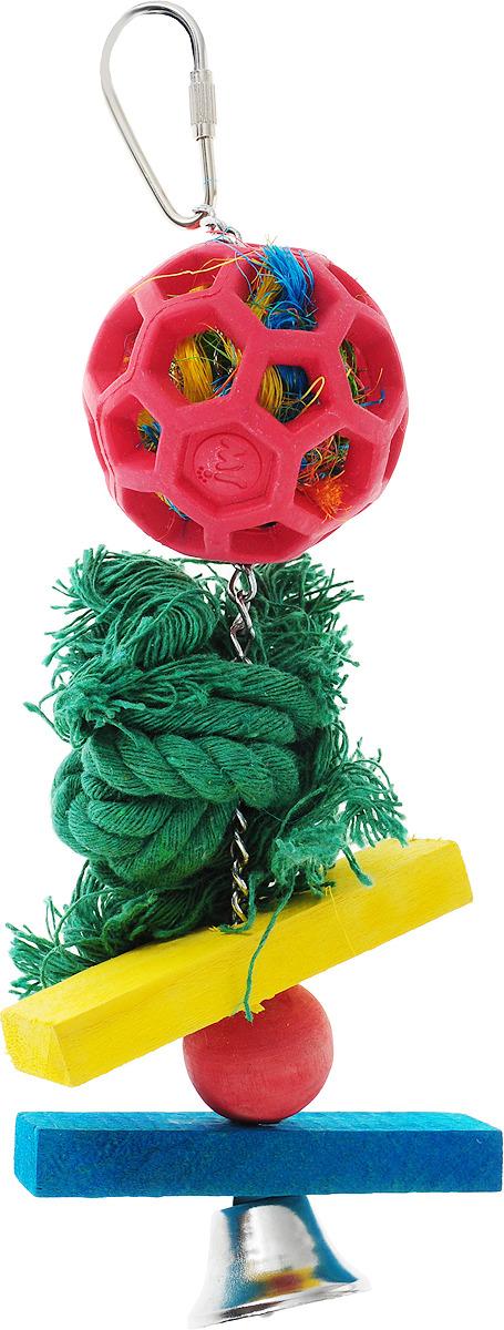 Игрушка для птиц J.W. Мячик на канате, развивающаяJW31012Игрушка д/птиц - Мячик на канате, резина, средняяОписание: Игрушка из серии JW Holee Roller с очень популярным дизайном. Маленький и средний размер серии идеально подходит для попугаев и канареек. Птиц легко заинтересовать этой игрушкой, так как она сделана из разных материалов и звенит. Применение: - снимите с игрушки упаковку; - поместите игрушку в клетке так, что бы птичке было удобно с ней играть; - уберите или замените игрушку при избыточном износе или повреждении.Состав: резина, нейлон, нержавеющая сталь.