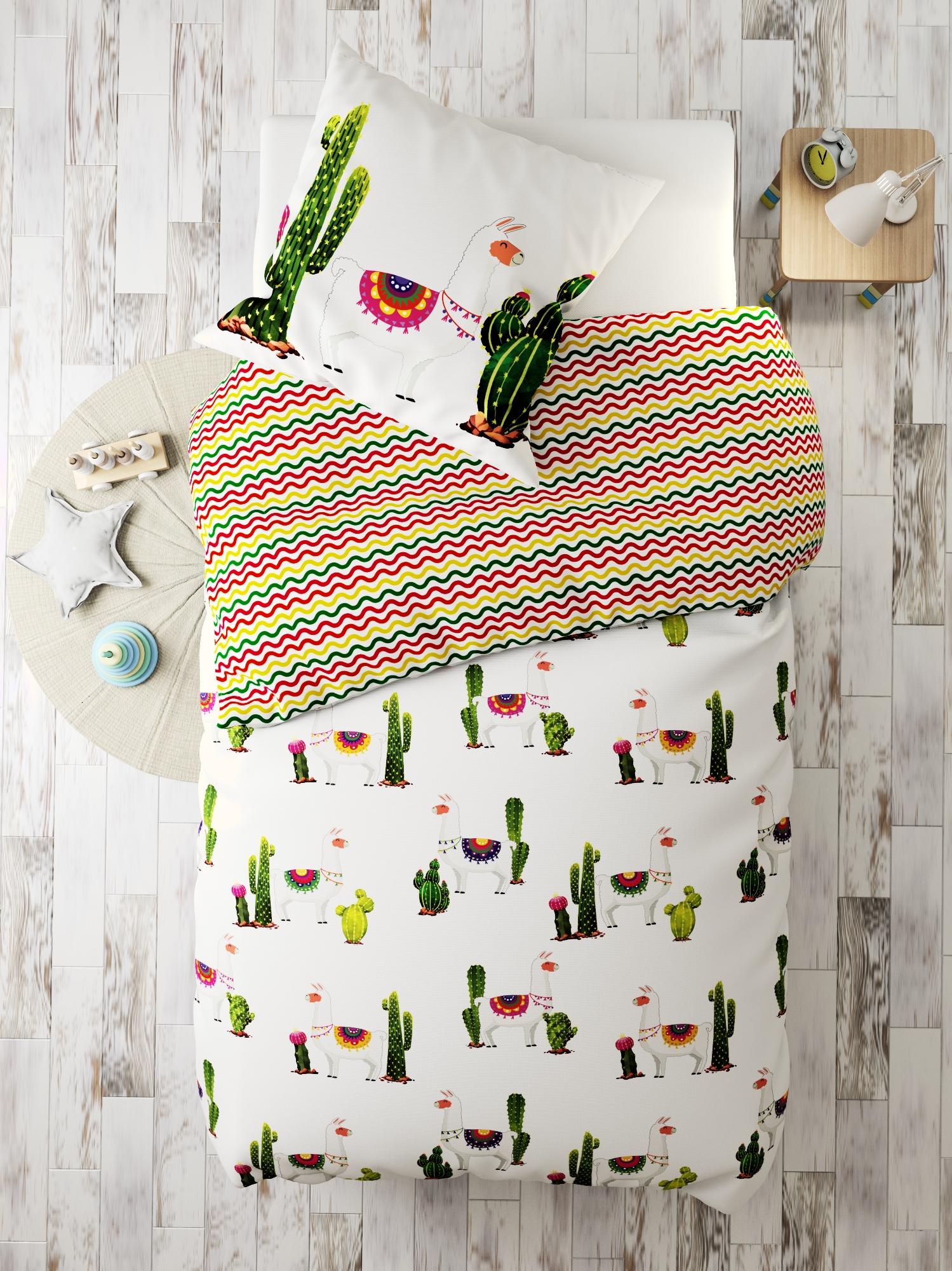 Комплект в кроватку Ламы, белый