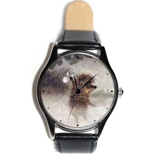 Часы Kitch Watch K-141K-141Наручные часы унисекс; Корпус: Стальной; Циферблат: Картинка; Стекло: Минеральное; Браслет: Кожаный ремешок; Водозащита: 30 м; Размер: 39х39 мм