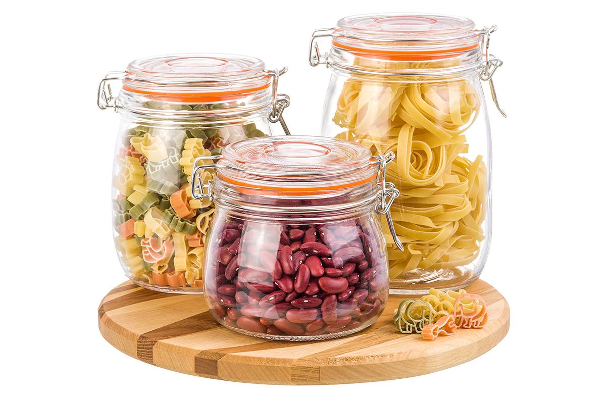 Фото - Банка для сыпучих продуктов Elan Gallery Микс, оранжевый, прозрачный набор банок для хранения elan gallery гортензия с ложками и крышками на подставке 7 предметов