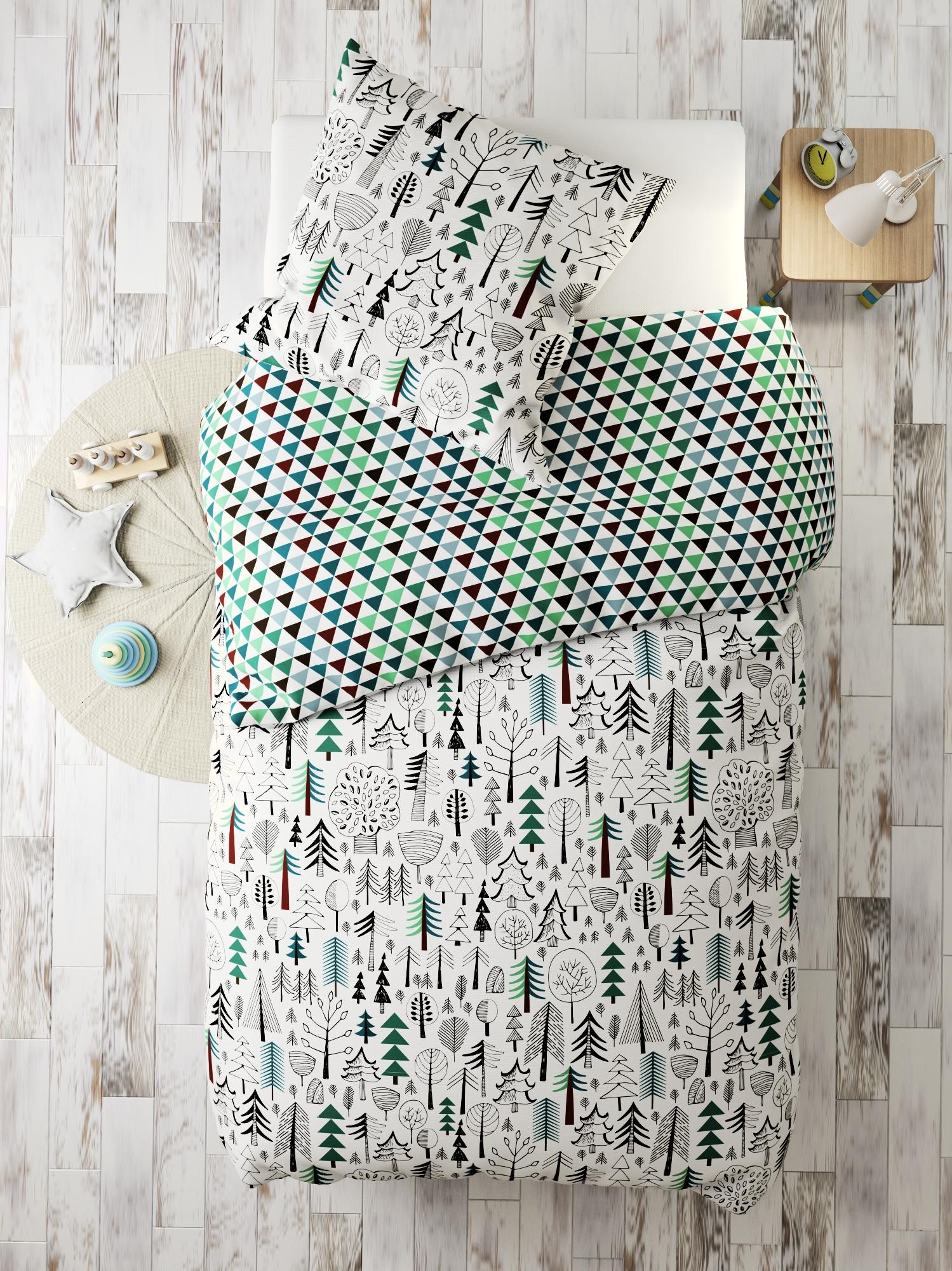 Комплект в кроватку Marengotextile Лес, белый