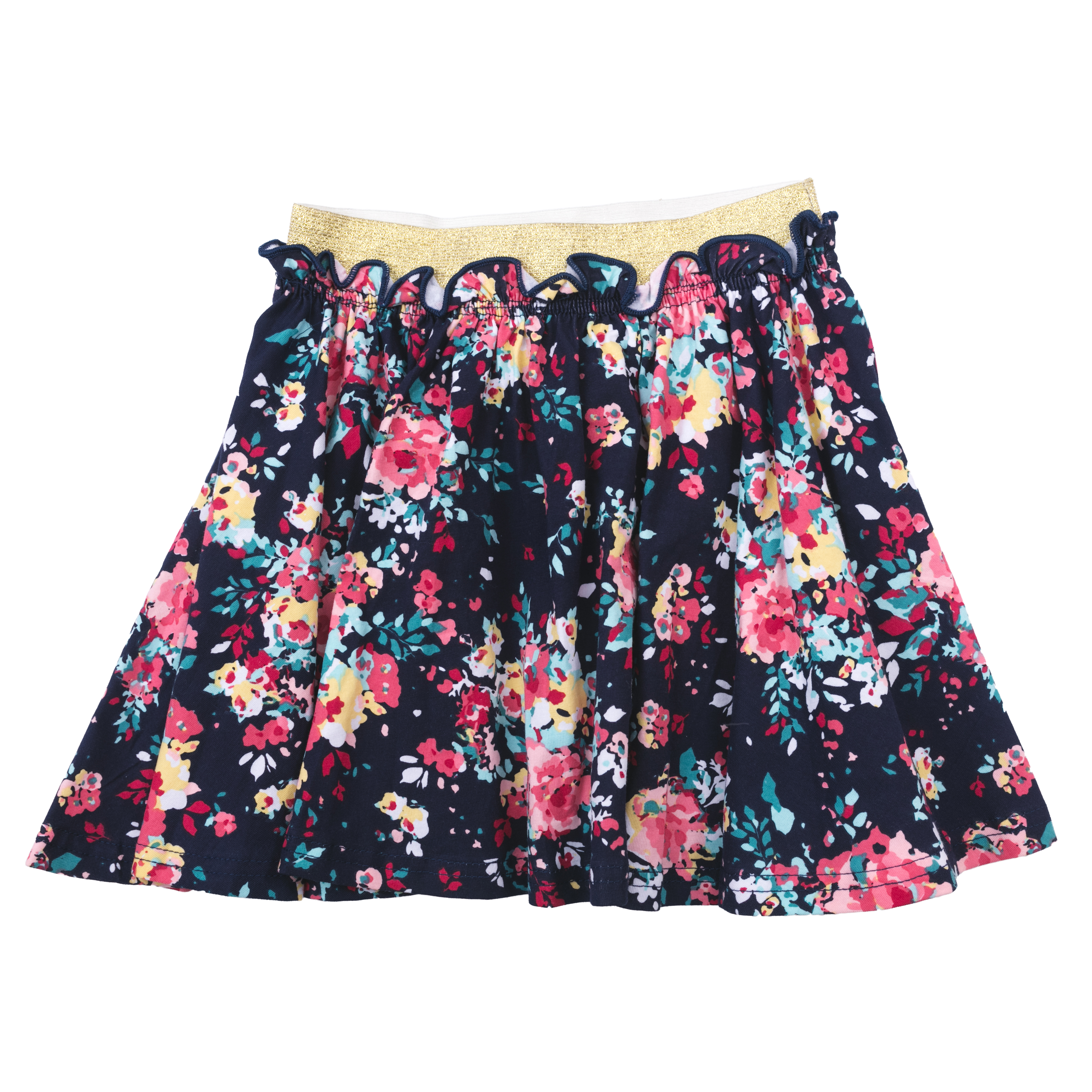 Юбка PlayToday, темно-синий, розовый, зеленый 116 размер172016116Яркая стильная юбка будет хорошим дополнением детского гардероба. Пояс юбки на эффектной широкой резинке с люрексом, мягкая ткань не сковывает движений ребенка. Материал приятен к телу и не вызывает раздражений. Преимущества: Мягкая ткань не сковывает движений ребенка, Материал приятен к телу и не вызывает раздражений, Пояс на широкой резинке с люрексом.