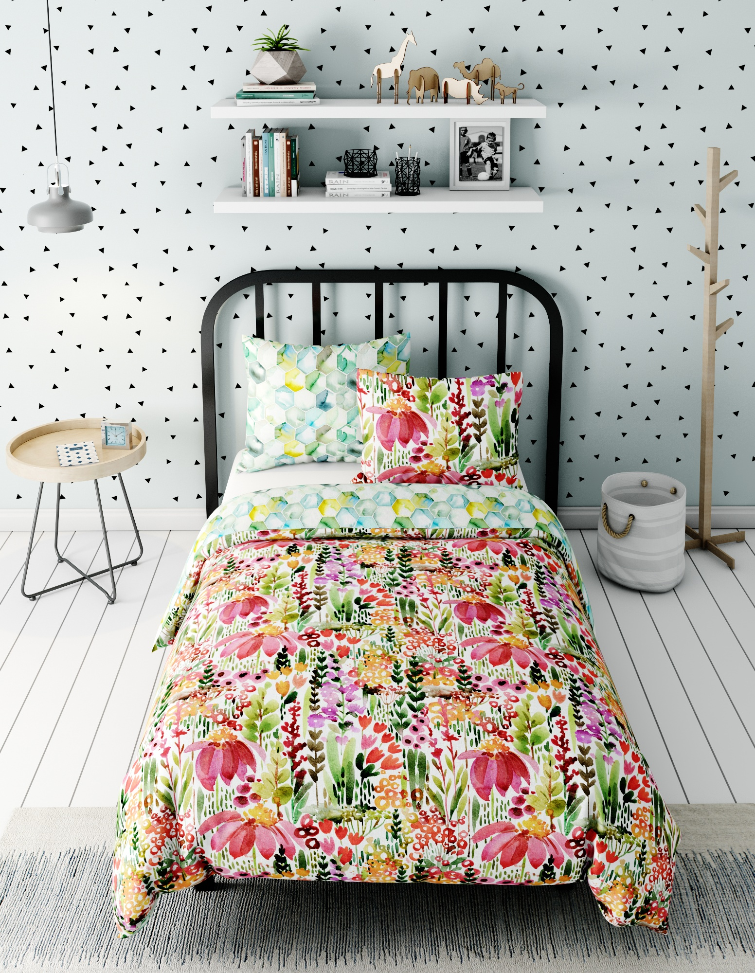 Комплект в кроватку Marengotextile Луг, белый