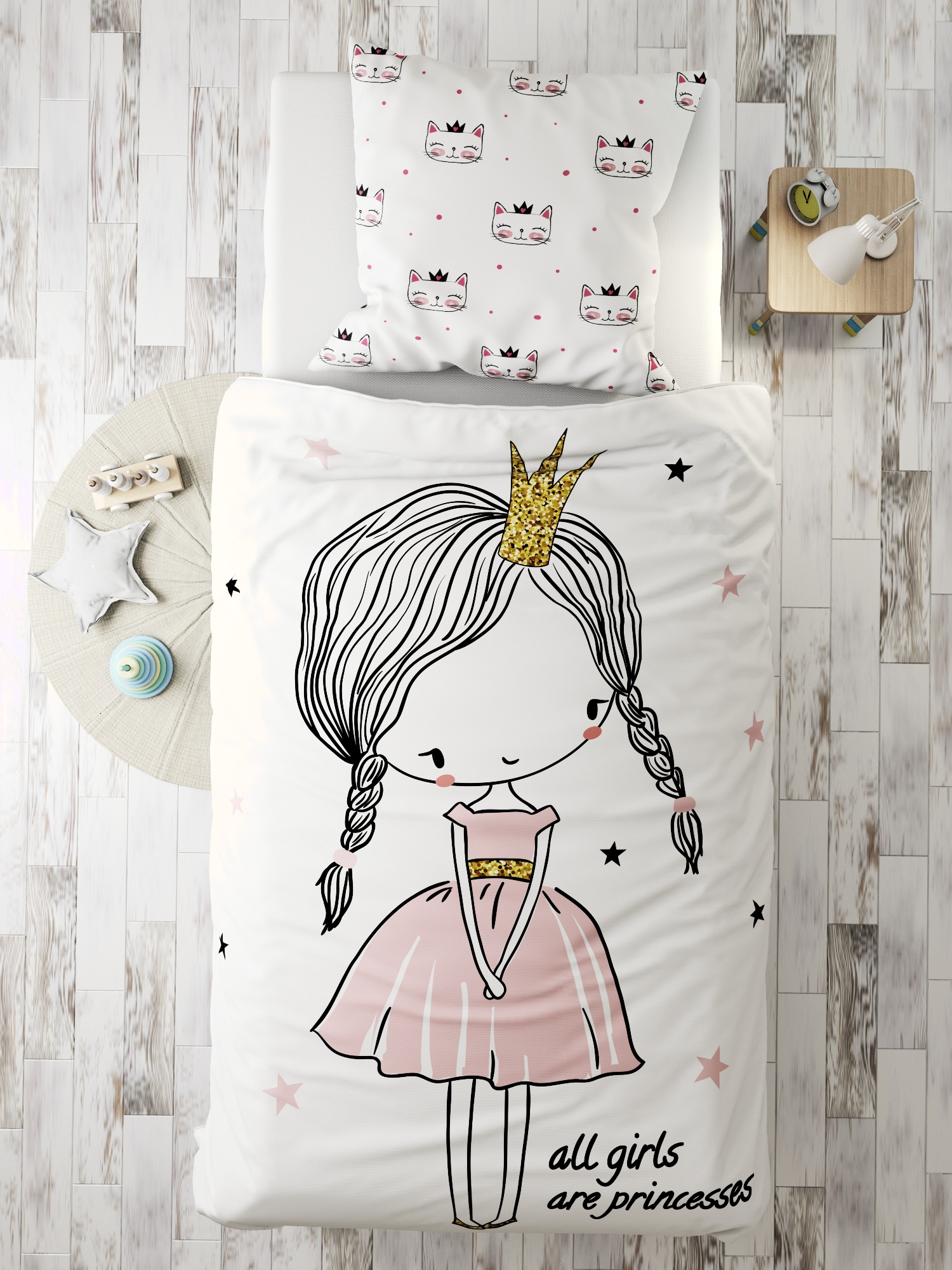 Комплект в кроватку Marengotextile Маленькая принцесса, белый