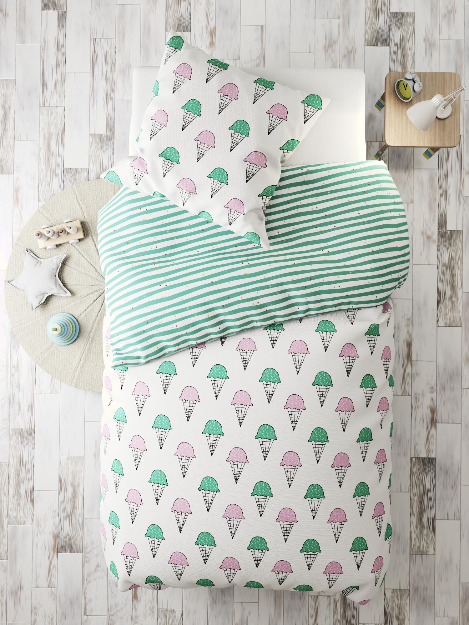 Комплект в кроватку Marengotextile Мороженка, белый