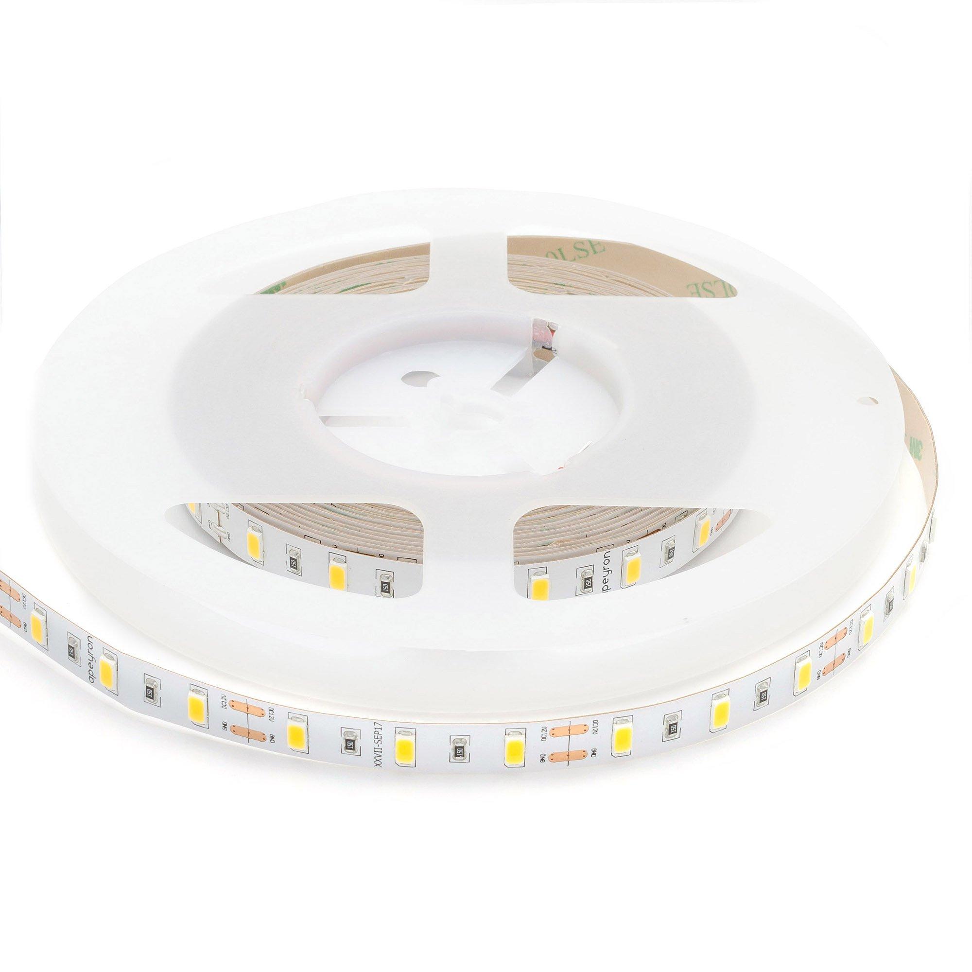 Светодиодная лента APEYRON electrics 00-122 12В, 11Вт/м, smd5630, 60д/м, IP20, 1400Лм/м, 5м, теплый белый электрическая гирлянда светодиодная apeyron бумажная 10ламп теплый белый 1 5м